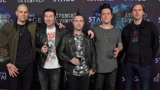 Avenged Sevenfold at the launch of latest album The Stage