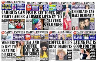 Daily express miracle diets, carrots, cancer cure