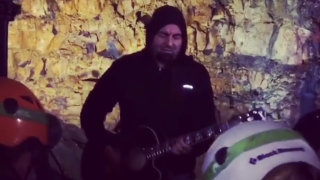 Chino Moreno plays 400ft inside Icelandic volcano