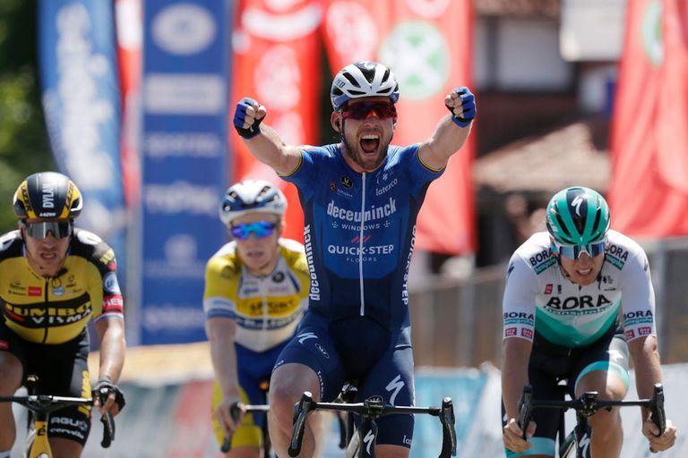 Mark Cavendish (Deceuninck-Quickstep) wins stage 5 of the 2021 Baloise Belgium Tour, in Beringen