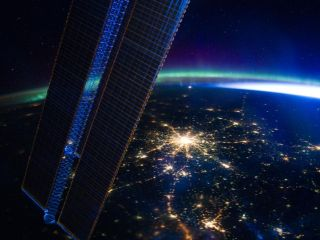 This image taken by members of the Expedition 30 crew aboard the International Space Station showcases the city of Moscow at night
