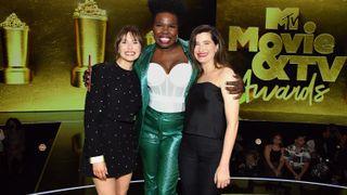 From left: Elizabeth Olsen, Leslie Jones, and Kathryn Hahn MTV Movie & TV Awards