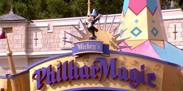 Mickey's PhilharMagic attraction sign