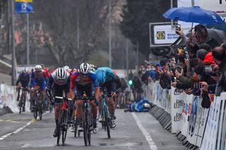 Tour de la Provence 2021 - 6th Edition - 2nd stage Cassis - Manosque 174,7 km - 12/02/2021 - Davide Ballerini (ITA - Deceuninck - Quick-Step) - Giulio Ciccone (ITA - Trek - Segafredo) - photo William Cannarella CV/BettiniPhoto©2021