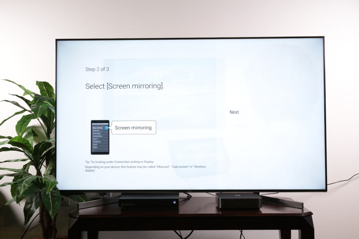How to set up screen mirroring to your Sony TV from a