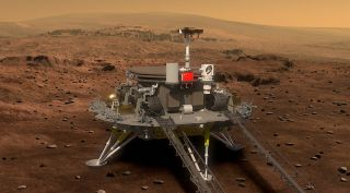 Render of China's Mars 2020 rover ahead of deployment.