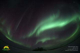 Aurora Borealis above Yellowknife, NWT