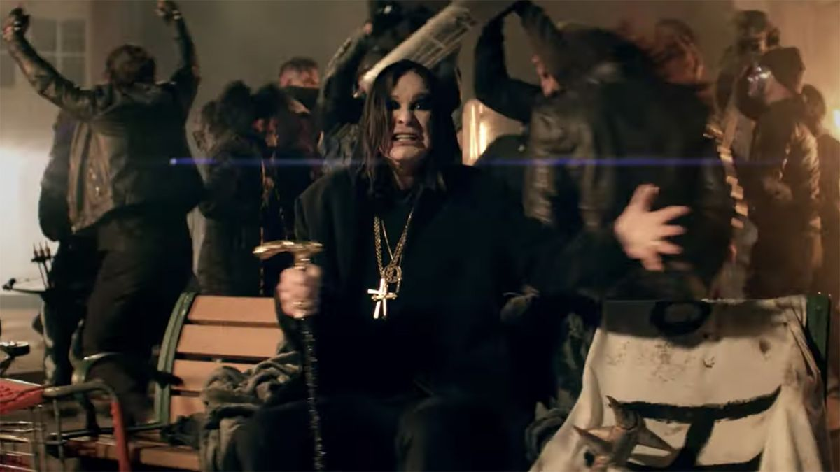 Ozzy Osbourne takes to the streets in protest in Straight To Hell video