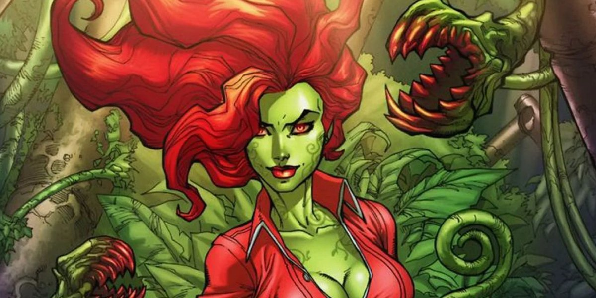 Poison Ivy and her plants in DC Comics
