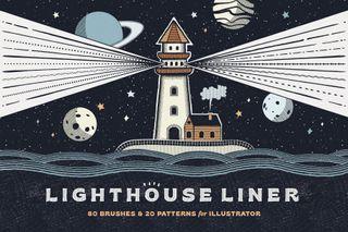 Illustrator brushes: Lighthouse