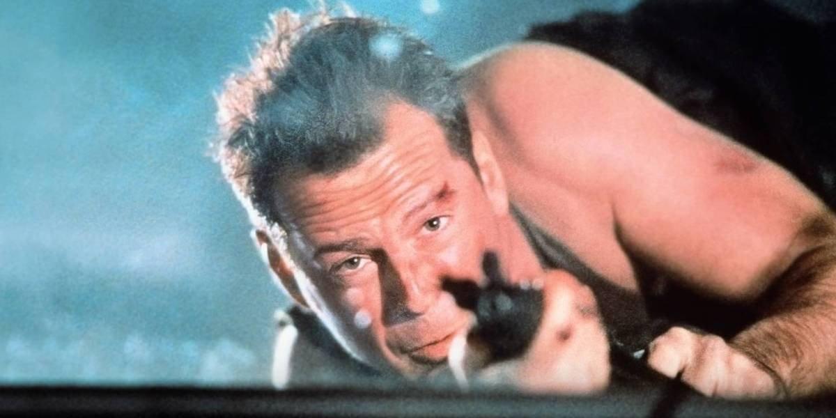 Bruce Willis in Die Hard.
