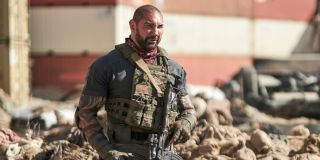 Dave Bautista as Scott Ward in the movie _Army of the Dead._