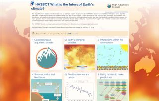 High-Adventure Science screenshot: The future of Earth's climate.