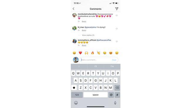 Instagram Tambahkan Shortcut Emoji di Kolom Komentar