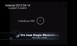 Asteroid 2012 DA14 at Closest Approach