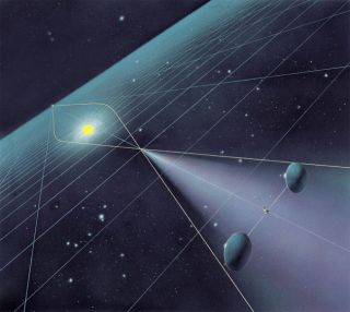 Placing communications satellites at certain distances from stars where the massive bodies' gravity bends and focuses radio waves might enable us to communicate with far-flung space probes, distant colonies and even aliens.