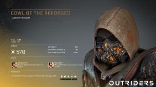 Outriders legendary armor