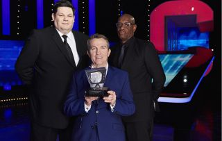 Bradley Walsh accepts TV Times award for The Chase