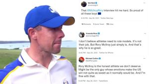 Social Media Reacts To Emotional Rory McIlroy Interview