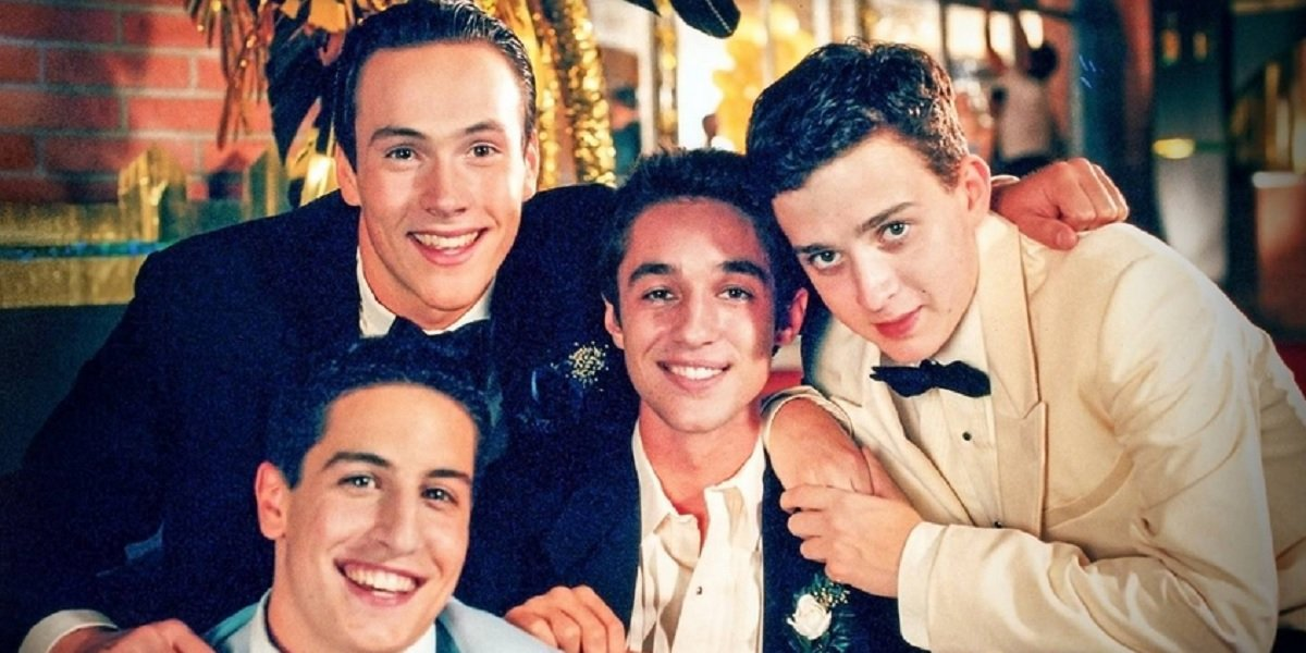 Jason Biggs, Chris Klein, Thomas Ian Nicholas, and Eddie Kaye Thomas in American Pie
