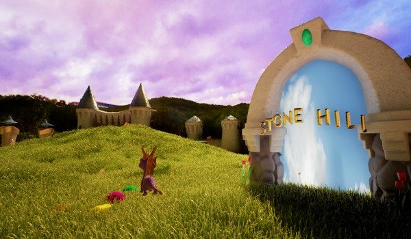See The First Stage Of Spyro Dragon Remade In Unreal