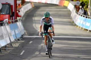 ARRATE EIBAR SPAIN APRIL 10 Arrival Emanuel Buchmann of Germany and Team Bora Hansgrohe during the 60th ItzuliaVuelta Ciclista Pais Vasco 2021 Stage 6 a 1119km stage from Ondarroa to Arrate Eibar 535m itzulia ehitzulia on April 10 2021 in Arrate Eibar Spain Photo by David RamosGetty Images