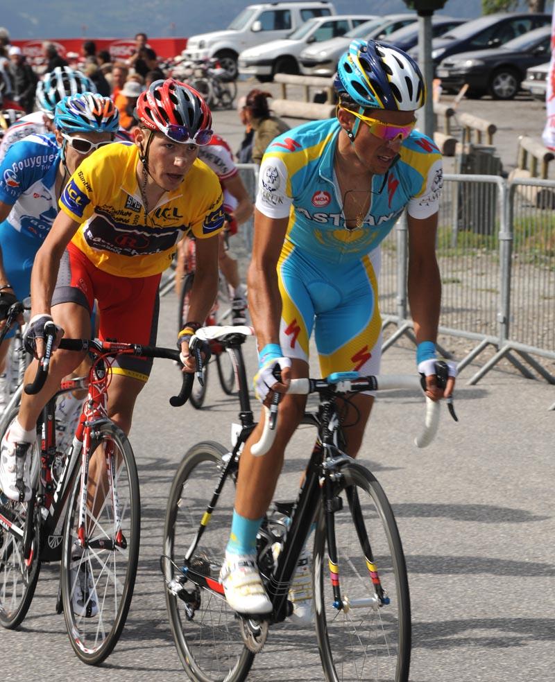 Alberto Contador and Janez Brajkovic, Criterium du Dauphine 2010, stage 4