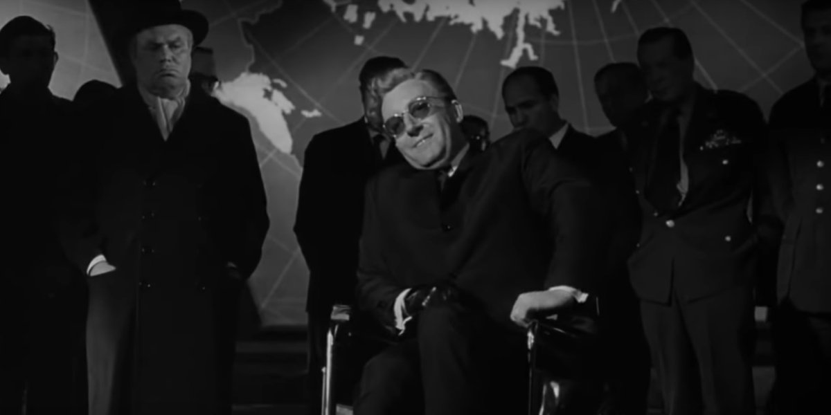 Peter Sellers as the title role of Dr. Strangelove
