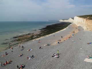 birling gap, eastbourne, east sussex, chemical cloud