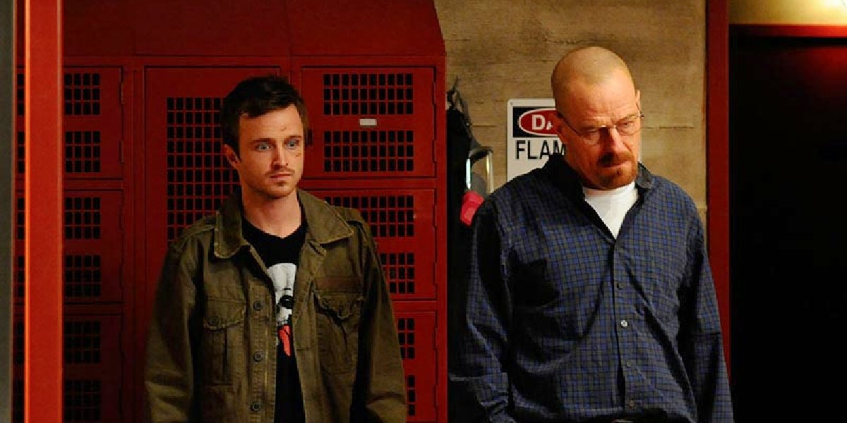 """Jesse and Walt in the episode """"Fly"""" in Breaking Bad."""