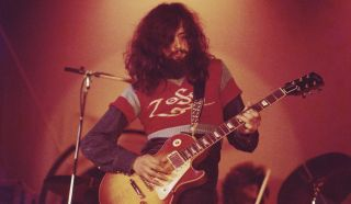 Jimmy Page performs with Led Zeppelin in 1971
