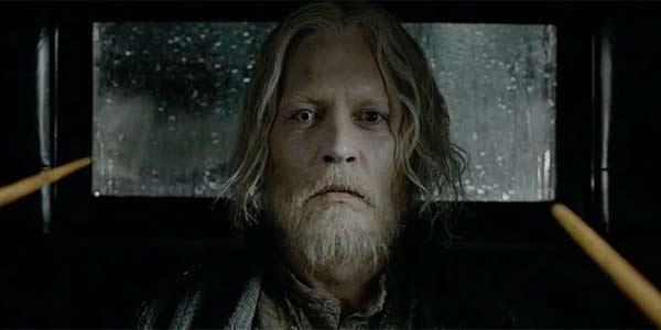 Johnny Depp Grindelwald mugshot from Fantastic Beasts: The Crimes of Grindelwald