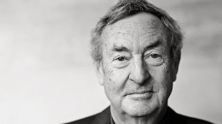Head shot portrait of Pink Floyd drummer Nick Mason