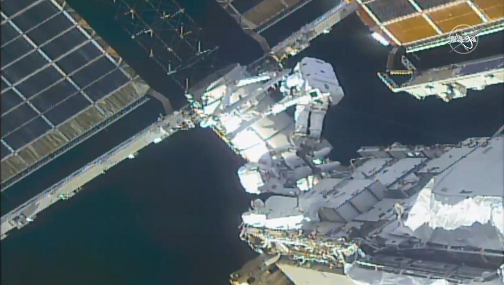 Spacewalking astronauts prepare International Space Station for new solar arrays
