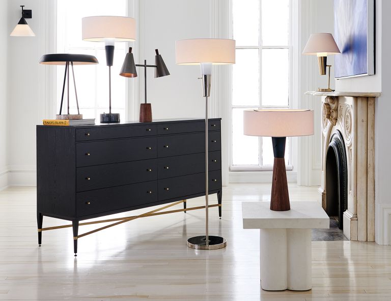 cb2 furniture sideboard lamps