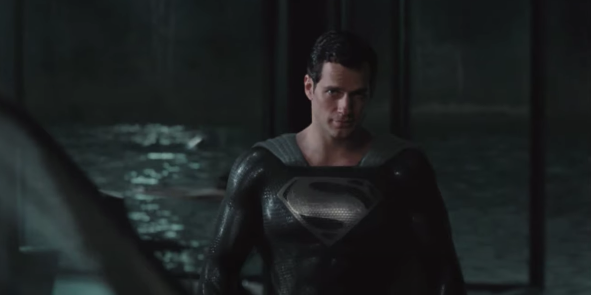 Superman in his Black Suit