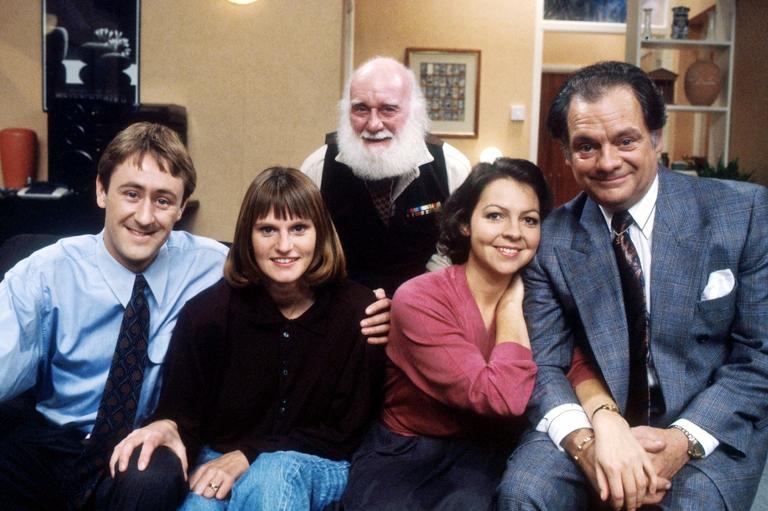 Rodney, Cassandra, tio Albert, Raquel e Del