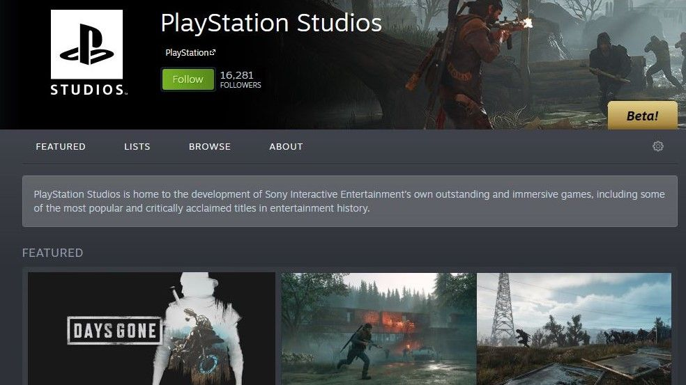 PlayStation Steam page suggests more PS4 games could come to PC soon