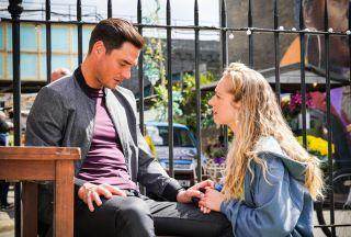 Nancy Carter talks to Zack Hudson in EastEnders