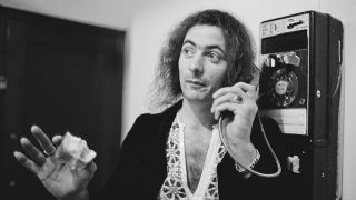 Ritchie Blackmore on a pay phone in the 1970s