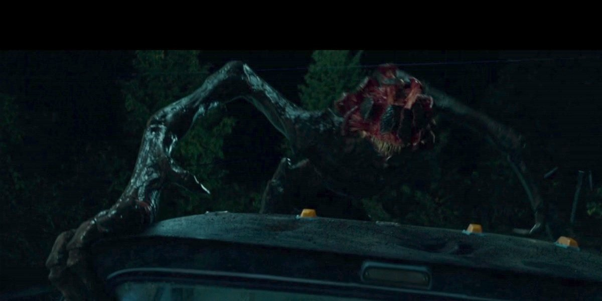 Monster on the roof of the truck in A Quiet Place