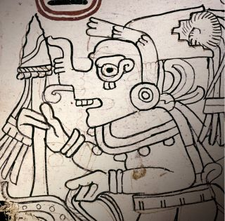 Here, an image from the Grolier Codex, a Mayan text that researchers now say is authentic.
