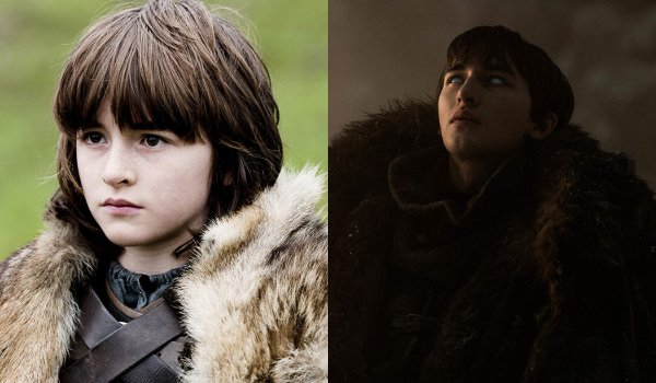 Game of Thrones Brandon Stark Then and Now