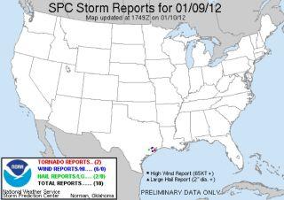 texas tornado reports jan. 9