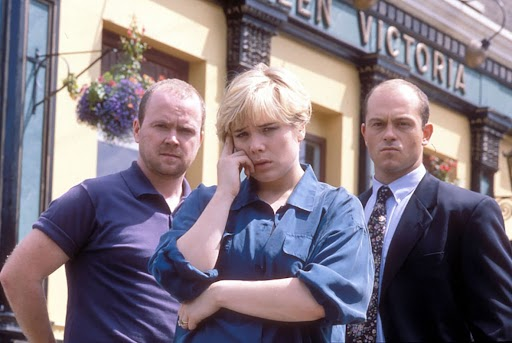Sharon, Phil and Grant in EastEnders