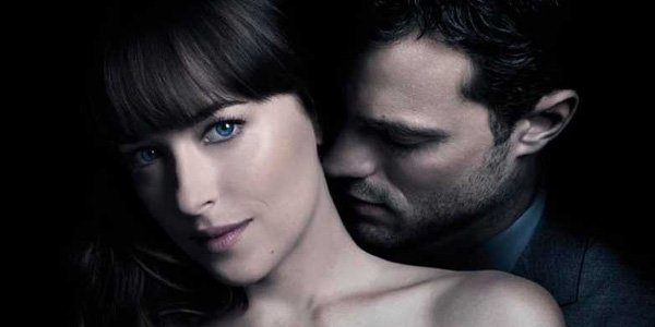 Fifty Shades Freed E.L. James books on the screen