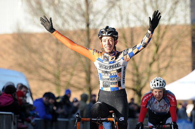 Helen Wyman wins senior women's race, Cyclo-Cross National Championships 2011