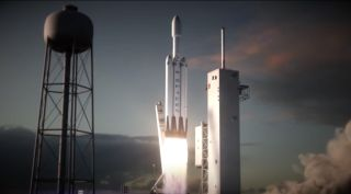 SpaceX Falcon Heavy art