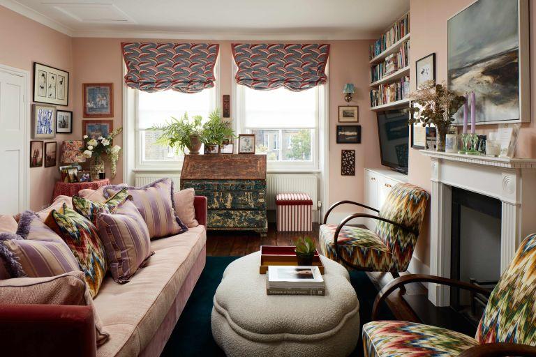 Small two bedroom London apartment with colorful vintage decor