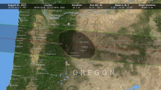 NASA Moon Shadow map 2017 solar eclipse